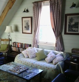 upstairs library room